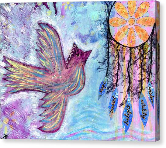 Spiritual Canvas Print - Fly Into Your Sweet Dreams by Julia Ostara From Thrive True dot com