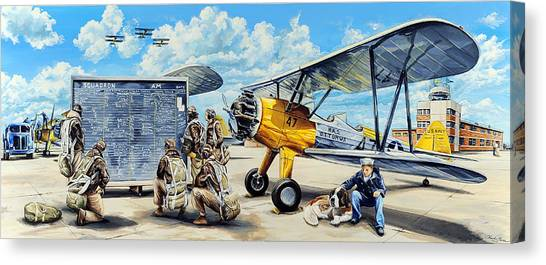 Biplane Canvas Print - Flyers In The Heartland by Charles Taylor