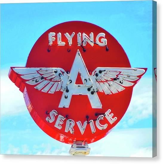 Flying A Service Sign Canvas Print