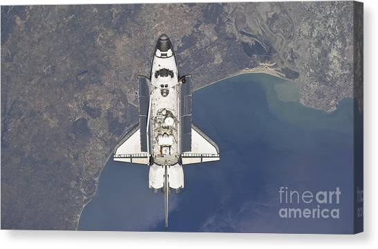 Rota Canvas Print - Flying Above The Atlantic Coast by Stocktrek Images