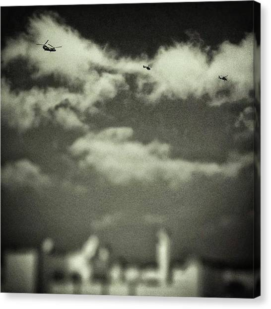 War Canvas Print - Flying Bugs #sky #clouds #army by Rafa Rivas