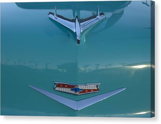 Flying Chevy Canvas Print