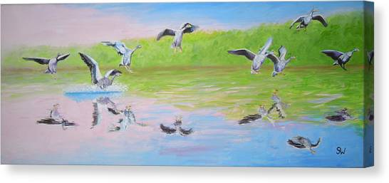 Flying Geese Canvas Print