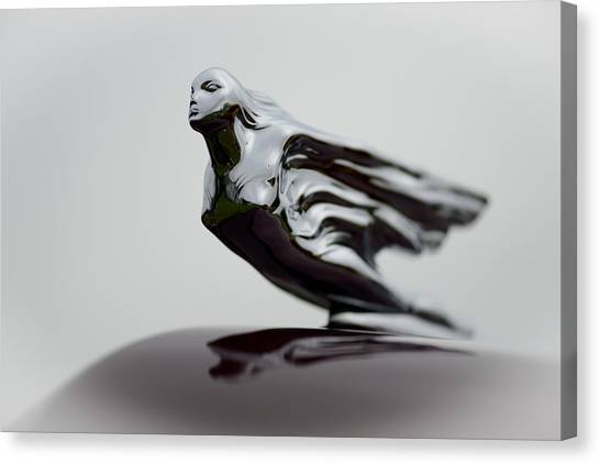 Flying Lady Hood Ornament Canvas Print