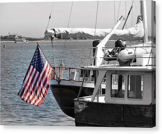 Flying Our Stars And Stripes Canvas Print
