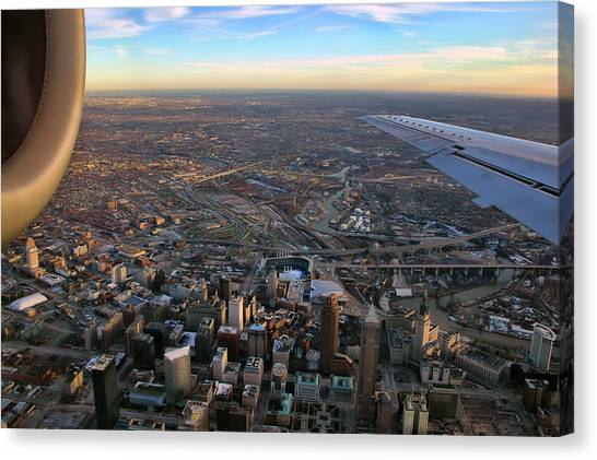 Flying Over Cincinnati Canvas Print