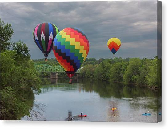Flying Over The Androscoggin Canvas Print