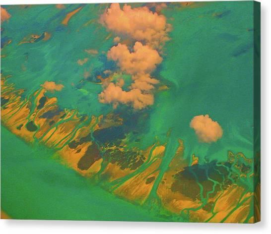 Flying Over The Keys, Florida Canvas Print