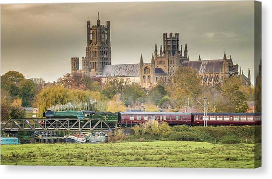 Flying Scotsman At Ely Canvas Print