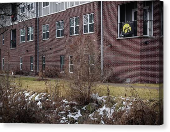 University Of Iowa Canvas Print - Flying The Hawkeye by Nick Mattea