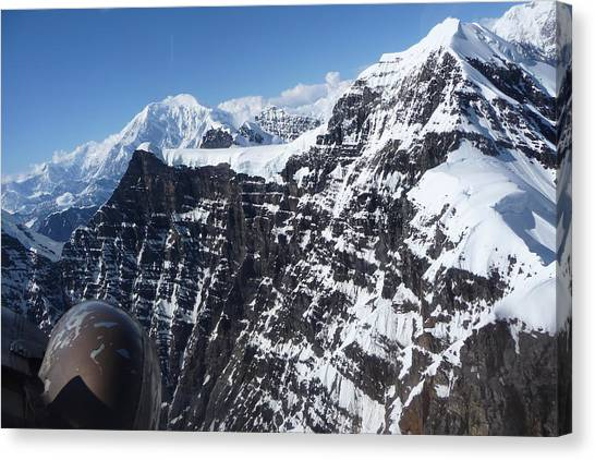Flying Thru The Great Gorge Canvas Print