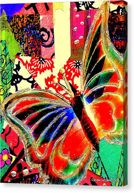 Flying Toward The Light Canvas Print by Cynda LuClaire