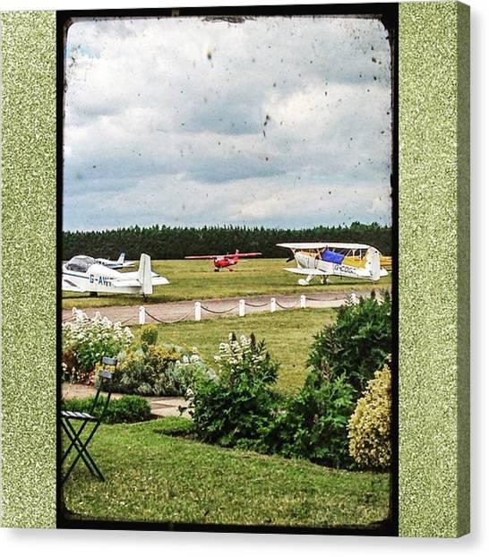 Biplane Canvas Print - #flyingclub #whitewaltham by Sam Stratton