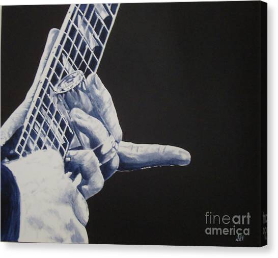 Slide Guitars Canvas Print - Fn Blues by Stuart Engel
