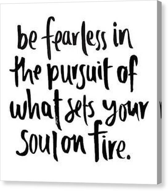 Music Canvas Print - Focus And Be Fearless. The #motivation by E M I L Y  B U R T O N