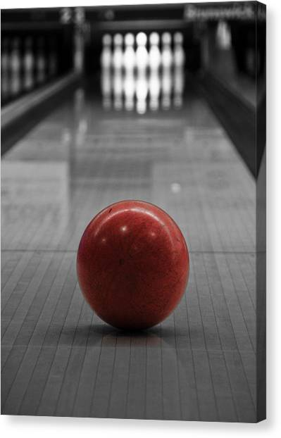 Bowling Ball Canvas Print - Focus by Edward Myers