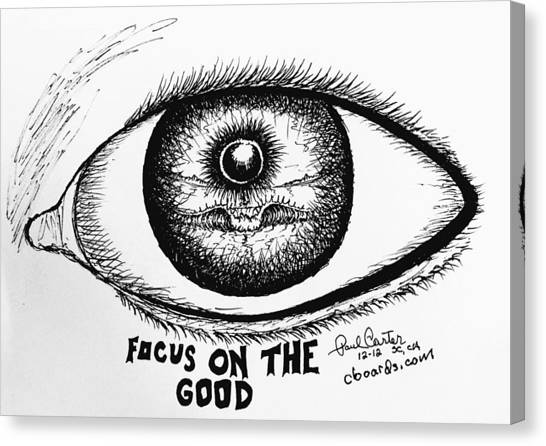 Focus On The Good Canvas Print