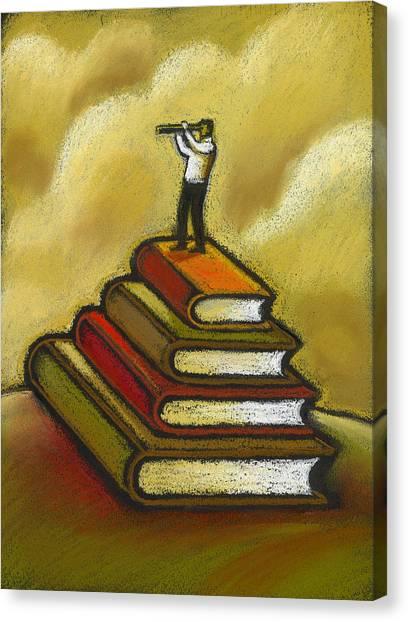 Improve Canvas Print - Focusing On Aducation by Leon Zernitsky