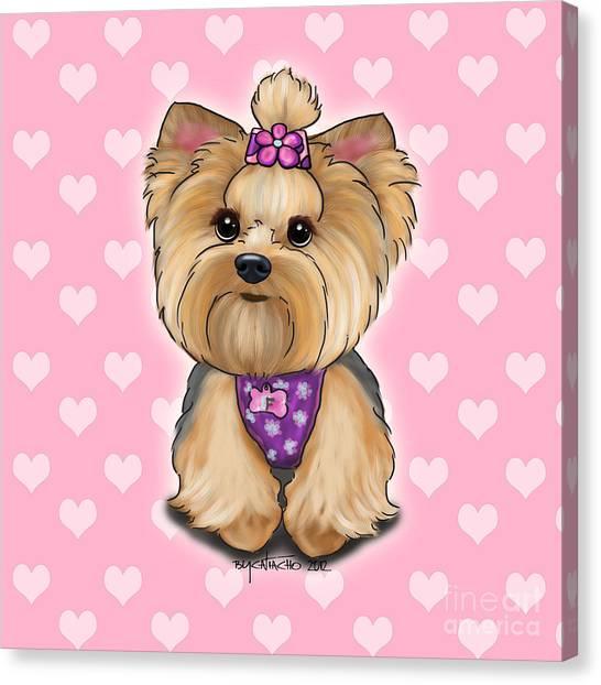 Fofa Hearts Canvas Print