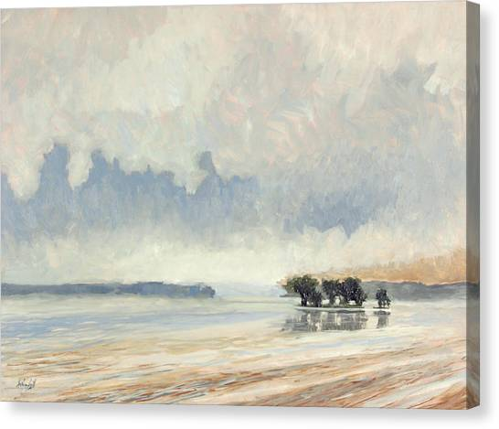 Fog Between The Storms Canvas Print by Anthony Sell