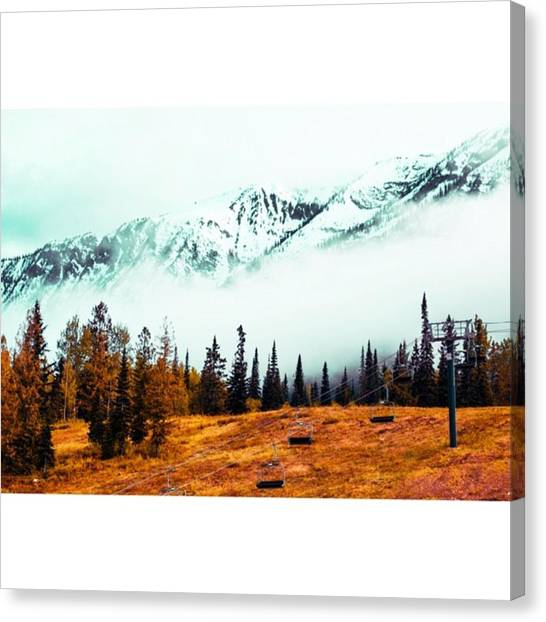 Star Trek Canvas Print - Fog Clouds Rolling In On The Mountain by Scotty Brown