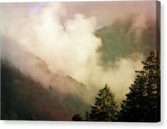 Susann Serfezi Canvas Print - Fog Competes With Sun by AugenWerk Susann Serfezi