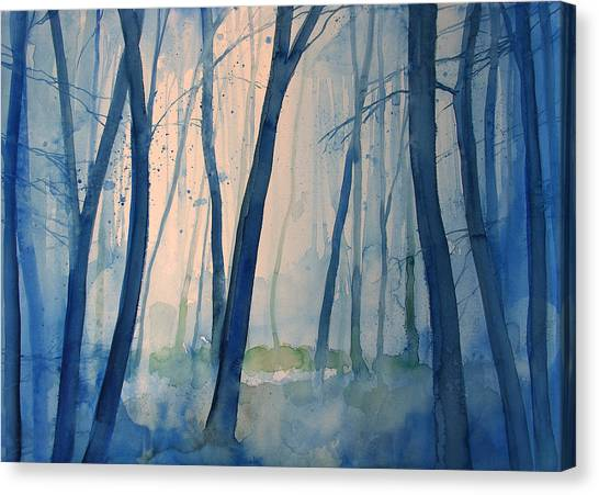 Fog In The Forest Canvas Print by Alessandro Andreuccetti