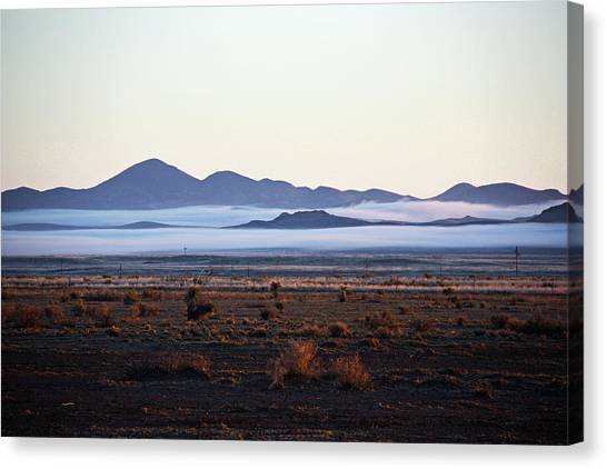 Fog In The Peloncillo Mountains Canvas Print