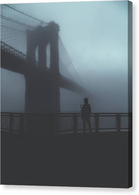 Bridges Canvas Print - Fog Life  by Anthony Fields