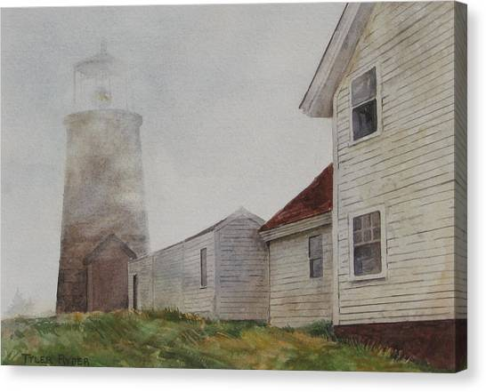 Fog On Monhegan Canvas Print