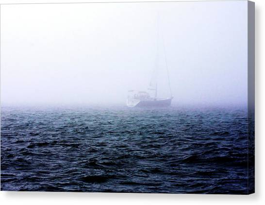 Fog On The Bay 1 Canvas Print by Alan Hausenflock