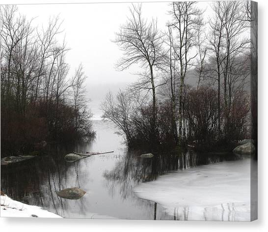 Fog On The Ponagansett Canvas Print