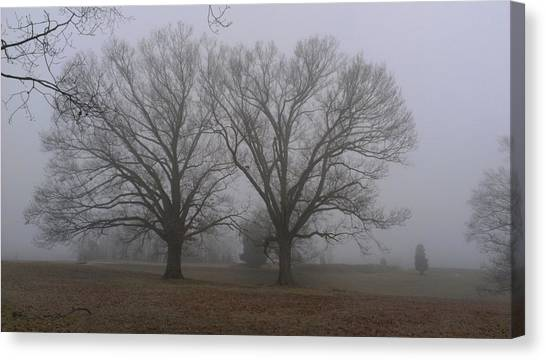 Fog On The Yorktown Battlefield Canvas Print