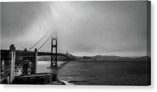 Fog Over The Golden Gate Bridge Canvas Print