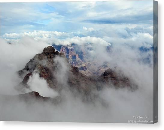 Fog Shrouded Vishnu Temple  Canvas Print