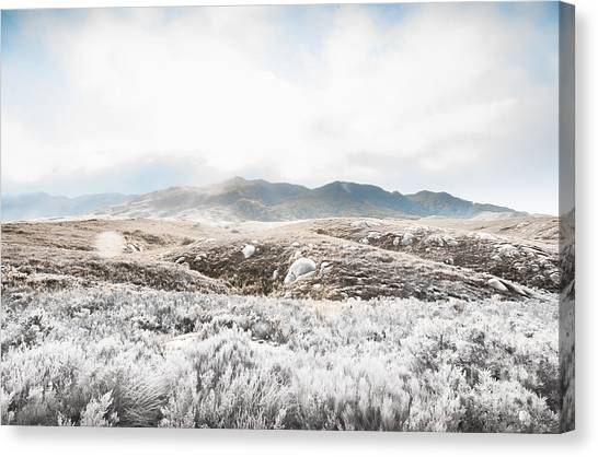 Harsh Conditions Canvas Print - Fog Snow And Ice Landscape by Jorgo Photography - Wall Art Gallery