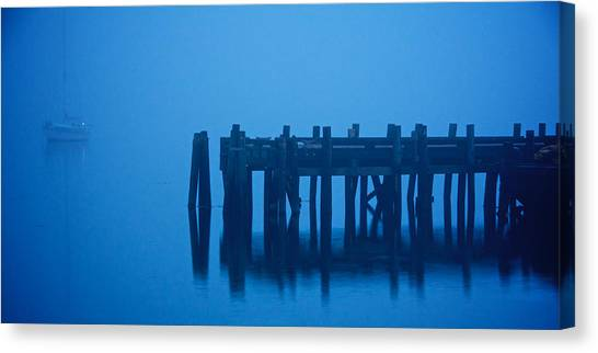 Shrouded In Fog, Morro Bay Canvas Print