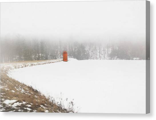 Canvas Print featuring the digital art Fogged In by Sue Collura