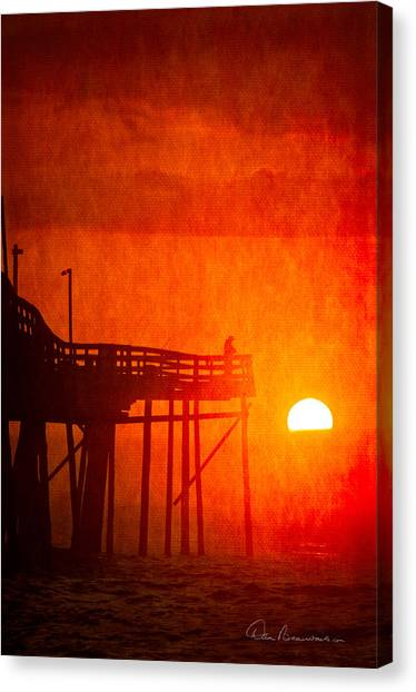 Foggy Avalon Sunrise 9129 Canvas Print