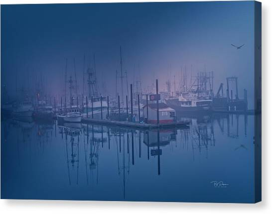 Foggy Bay Front Canvas Print