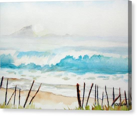 Foggy Beach Canvas Print