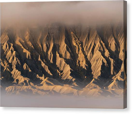 Foggy Butte Canvas Print