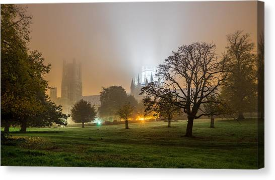 Foggy Cathedral Canvas Print
