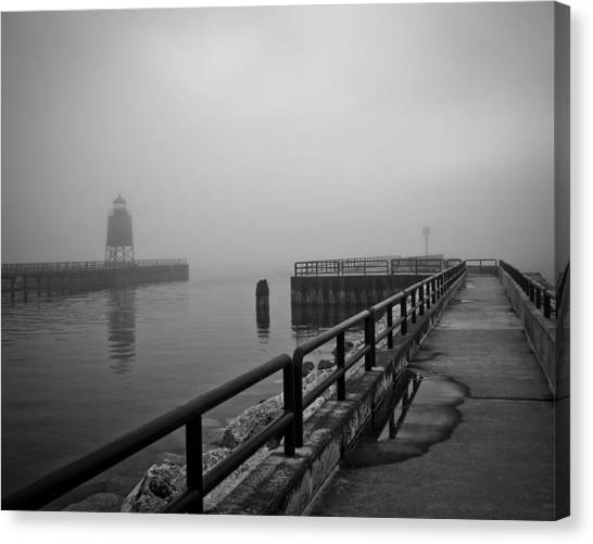 Foggy Charlevoix Canvas Print
