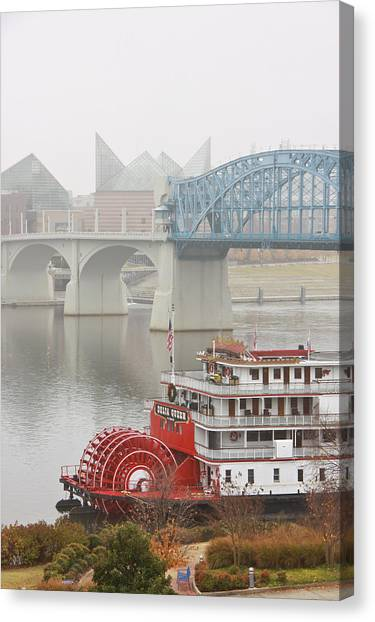 Foggy Chattanooga Canvas Print