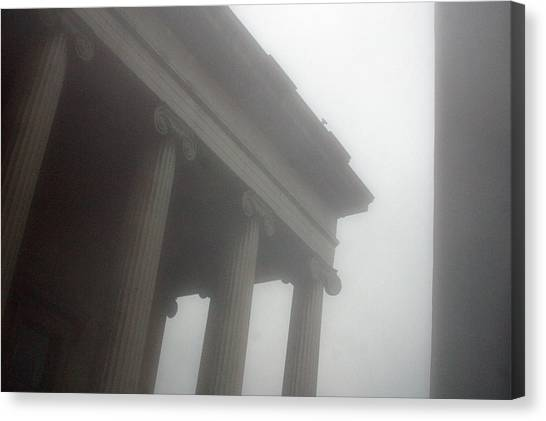 Foggy Coloumn Canvas Print by Jez C Self