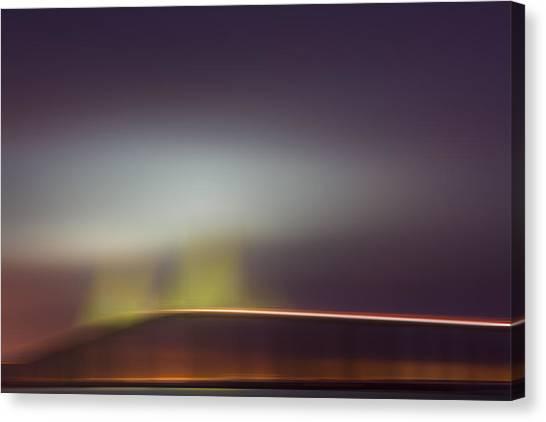 Lavendar Canvas Print - Foggy Dawn X by Jon Glaser