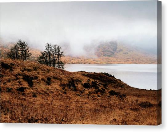 Foggy Day At Loch Arklet Canvas Print