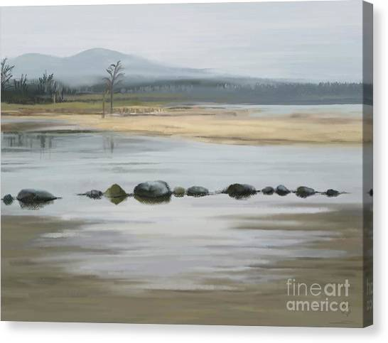 Canvas Print featuring the painting Foggy Day by Ivana