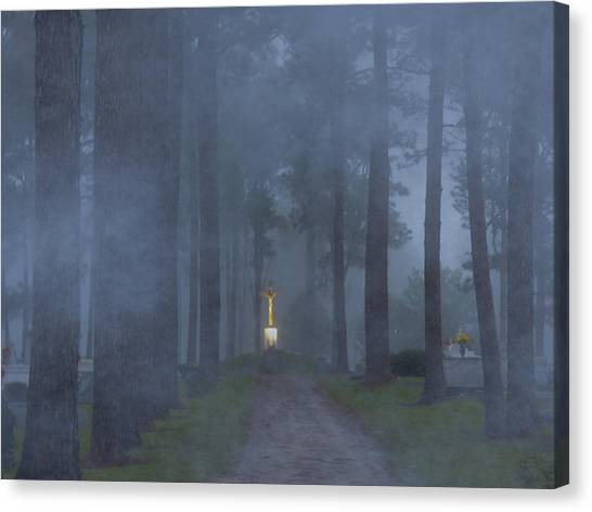 Foggy Hallowed Ground Canvas Print